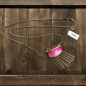 NWT Kendra Scott Ellen necklace pink